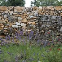 Création des murs de clôtures en pierre sèche