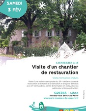 Visite d'un chantier de restauration