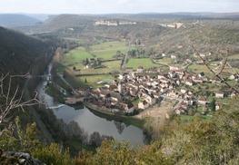 MARCILHAC-vue du bourg