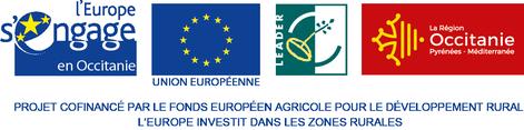 Logo LEADER et région Occitanie