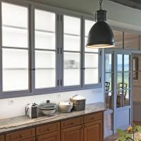 Placards de cuisine et portes intérieures vitrées