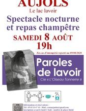 """Repas Champêtre et Spectacle Nocturne : """"Paroles de Lavoir"""""""